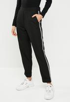 STYLE REPUBLIC - Racing stripe trouser - black