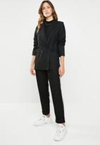 STYLE REPUBLIC - Longer length double breasted blazer - black