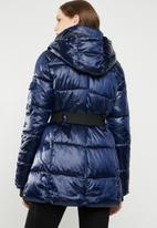 STYLE REPUBLIC - Longline hooded puffer jacket - navy