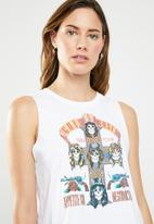 Cotton On - Tbar lola graphic guns and roses tank top - white
