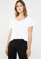 Cotton On - Madeline chop tee - white