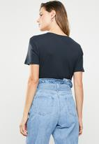 Cotton On - Tbar fox graphic T-shirt - navy