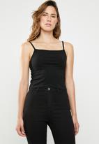 Cotton On - Fashion crop cami - black