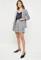 ONLY - Sophie check neo skirt - grey