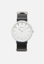 Superbalist - Charlie leather watch - black & silver