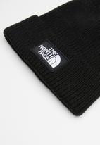 The North Face - Logo box cuffed beanie - black