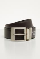 Pringle of Scotland - Cedric leather reversible belt - black/brown