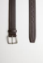 Superbalist - Smart leather belt - brown
