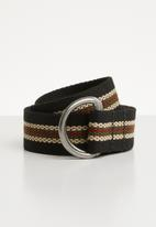 Superbalist - Multi stripe canvas belt - multi
