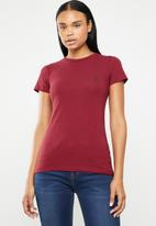 POLO - Allie pony stretch tee - burgundy