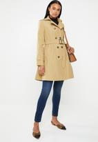 edit - Fit and flare trench coat - tan
