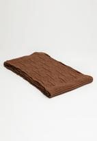 Superbalist - Chunky knit scarf - brown