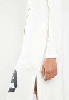 DAVID by David Tlale - Bathabile shift shirt dress - cream