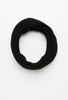 Superbalist - Ribbed knit snood - black