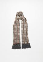 Superbalist - Check scarf with tassels - multi