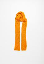 Superbalist - Cable knit scarf - orange