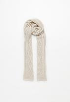 Superbalist - Cable knit scarf - beige