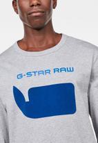 G-Star RAW - Seii long sleeve tee - grey