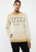 Sergeant Pepper - Reverse dirty dye logo sweater - brown