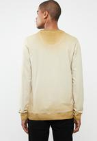 S.P.C.C. - Reverse dirty dye logo sweater - brown