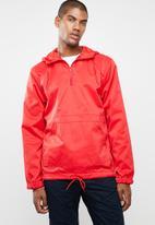 Superbalist - Basic half-zip anorak - red
