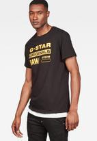 G-Star RAW - Graphic 8 r t short sleeve tee - black