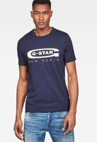 G-Star RAW - Graphic 4 r short sleeve - sartho blue