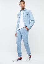 STYLE REPUBLIC - Kroos cuffed chino - blue