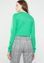 Vero Moda - Milda long sleeve o-neck button knit - green