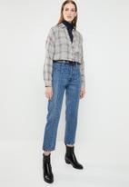 Vero Moda - Milda long sleeve rollneck button knit - navy