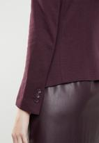 Vero Moda - Julia long sleeve blazer - burgundy