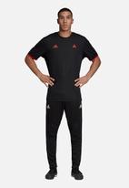 adidas Performance - Tan rev short sleeve jersey tee - black & red