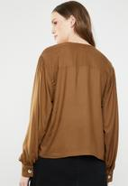 Superbalist - Button front blouse - brown