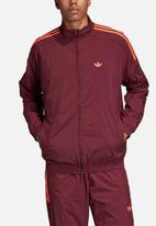 adidas Originals - Flames RK woven track top - burgundy