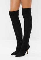 ALDO - Faux suede over-the-knee boot - black