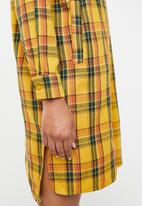 Superbalist - Longline shirt dress - yellow check