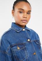 Superbalist - Tia oversize denim jacket - blue