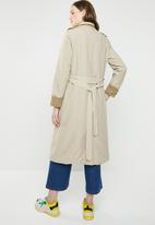 STYLE REPUBLIC - Contrast trench twill - beige