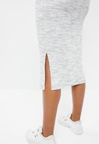 Superbalist - V-neck tie front knit dress - grey