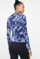 Superbalist - Tie dye turtle neck top - blue