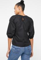 Superbalist - Tie front shell - black