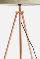 Sixth Floor - Tri table lamp - copper/natural