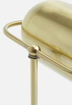 Sixth Floor - Wayfair table lamp - gold