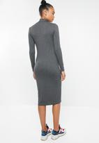 Superbalist - 2Pack poloneck dress - charcoal & rust