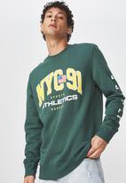Cotton On - NYC 91 athletics crew fleece - green