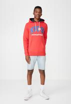 Cotton On - NYC 91 fleece pullover - red