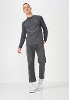 Cotton On - Cliques and tribes crew fleece - grey