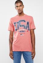 Cotton On - Usa champs Tbar tee - pink