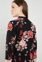 ONLY - Nova lux printed wrap 3/4 sleeve jumpsuit - multi