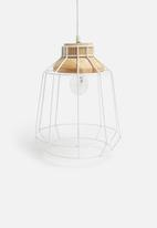Sixth Floor - Astro pendant - wood/white